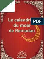 Ton Programme Journalier Du Mois de Ramadan