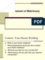 Sacrament of Matrimony (1)
