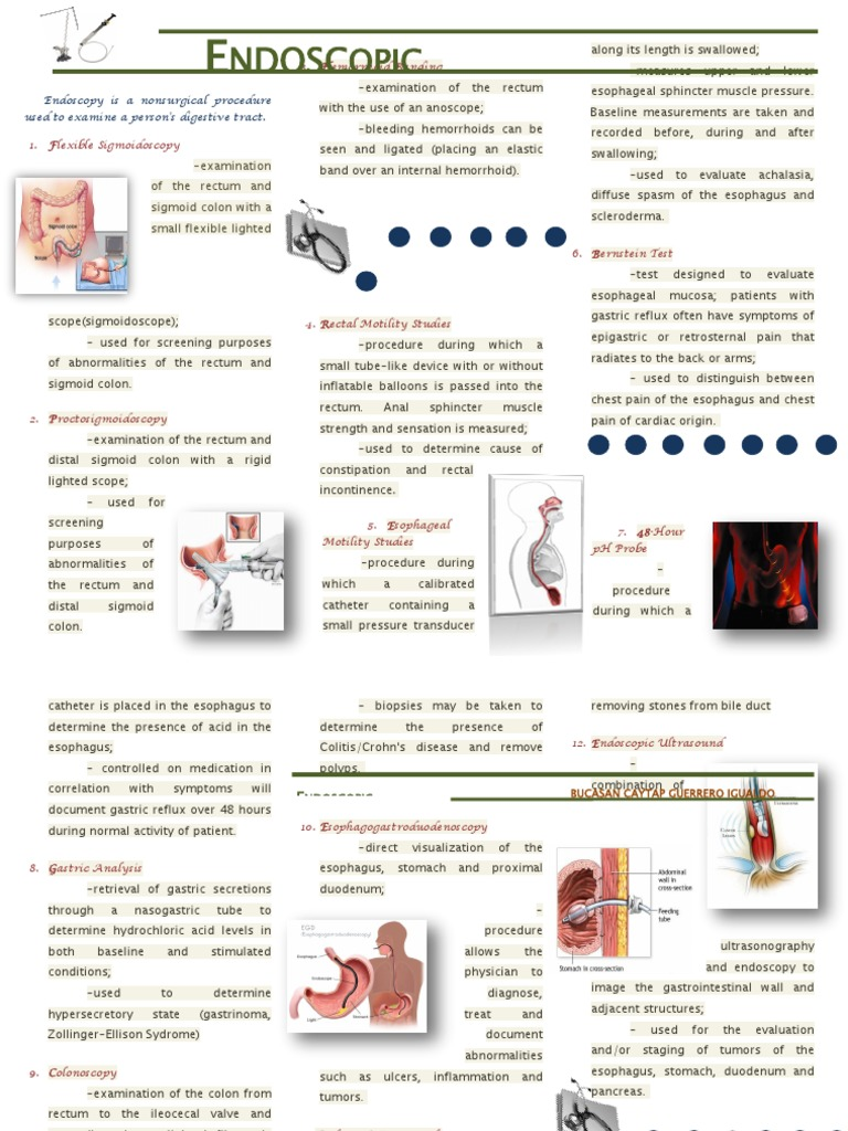 Printable Endoscopy: Endoscopy Is A Nonsurgical Procedure Used To Examine A