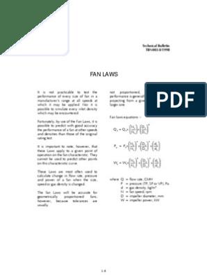fan laws | Mechanical Fan | Density