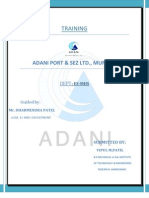 Adani Trainig Report