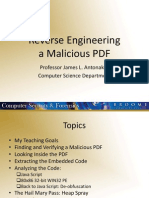 James Antonakos - Reverse Engineering a Malicious PDF