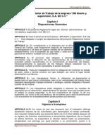 Reglamento Interior de Trabajo de La Empresa