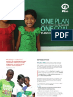 Plan's Strategy to 2015. One Plan, One Goal