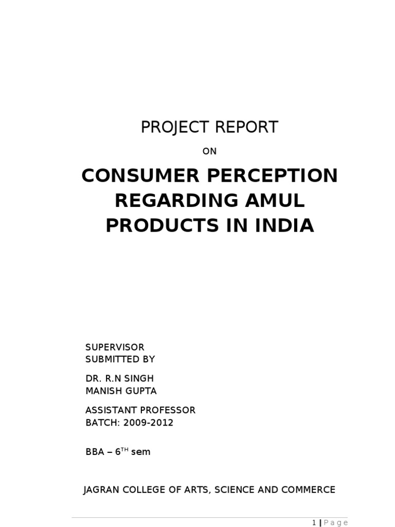 amul project report Popular searches: digital dairy project ppts, project report amul dairy anand vb net, amul project report pdf, tirumala dairy mba students project.