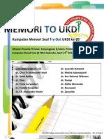 Kumpulan Memori Soal Try Out UKDI Ke-20 Untan
