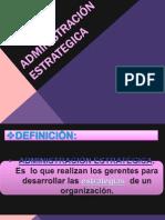 ADMINISTRACIÓN ESTRATEGICA oo
