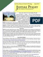 Jumaa Prayer 6 July12