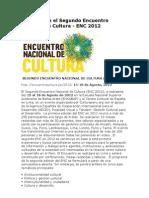 Encuentro Nacional de Cultura