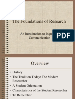 The Foundations of Social Research by Dr. Norbert Elliot