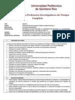 Convocatoria PTC Cuatri Sep-Dic 2012