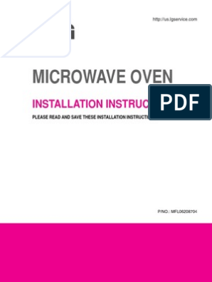 LG lmh2016 microwave installation instructions pdf | Duct