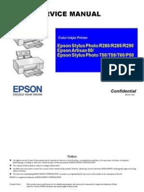 Service Manual: Epson Stylus Photo R280/R285/R290 Epson