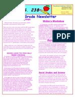 5th Grade Newsletter January 2009