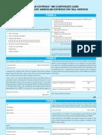 Corporate Card Enrollment
