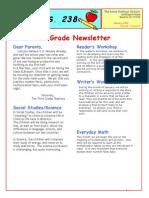 3rd Grade January 2009 Newsletter