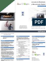 Tríptico Jornada Modelado y Mecanizado Digital 25 abril
