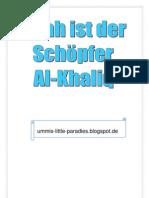 Allah ist der Schöpfer, Al-Khaliq