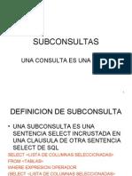 Sub Consultas Oracle 2008ultima Procedimientos