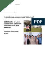2010 Local Association Compensation Profile Survey