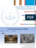 International Criminal Court (IDS 630 International Organizations and Multilateral Diplomacy)