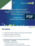 Responsabilidad Social Empresarial, Capital Humano y Redes Sociales