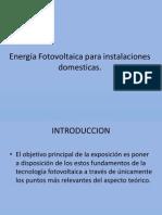 Energía Fotovoltaica para instalaciones domesticas
