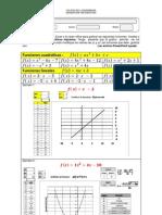 Graficacion de Funciones Lineales y Cuadraticas