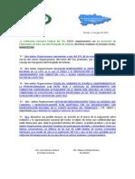 Manifiesto Organizaciones Del Taxi de Asturias-julio 2012