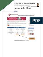 Apertura de Hosting Web