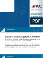 Estadisticas TICs 2011 - Ecuador