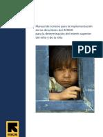 Manual de terreno para la implementación de las directrices del ACNUR para la determinación del intrés superior del niño y de la niña