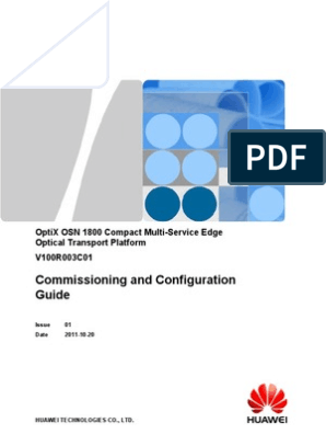 Commissioning and Configuration Guide(V100R003C01_01