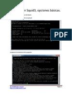 Instalacion Squid3 Opciones Basicas