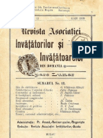 Revista Asociaţiei Învăţătorilor şi Învăţătoarelor din România, anul IX (1909), nr.12