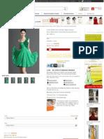 A-line Chiffon One shoulder Zipper Empire Short/Mini Flower Prom/Homecoming Dresses