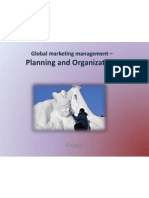 Global marketing management – Planning and Organization