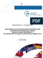 Sanctioning Illicit Trafficking in Nuclear Materials And