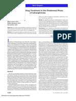Antipsychotics in Prodrome