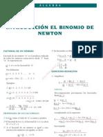 11 INTRODUCCIIÓN EL BIINOMIIO DE NEWTON