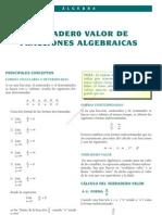 14 Verdadero Valor de Fracciones Algebraicas