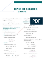 18 Ecuaciones de Segundo Grado
