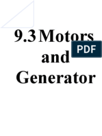 9.3 Motors and Generators Notes