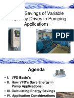 Energy Savings of Variable Frequency Drives