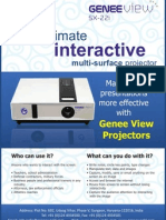 Interactive Multi-Surface Projector (Genee View SX 22i)