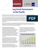 Supporting Good Governance in the Pacific
