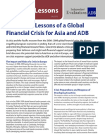 Evaluation Lessons of a Global Financial Crisis for Asia and ADB