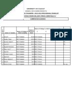 b Tech Cl g Transfer Rank List