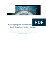 Quantifying the Performance of the Dark Tourism Product Online