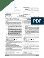 UGC NETManagement Paper II Question Paper December 2006